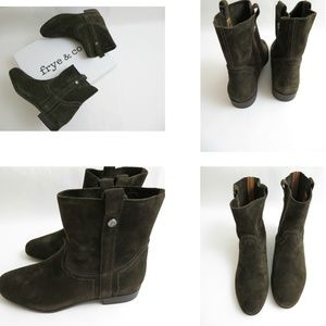 Frye & Co 9 Sarah Shortie brown Suede boots